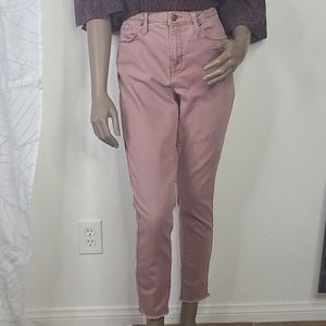 Mossimo high rise skinny pink denim jeans 12/31